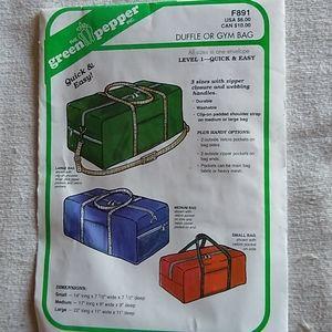 Duffle or Gym Bag Pattern